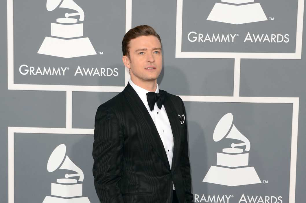 Singer-actor Justin Timberlake arrives at the 55th Annual GRAMMY Awards at Staples Center on February 10, 2013 in Los Angeles, California