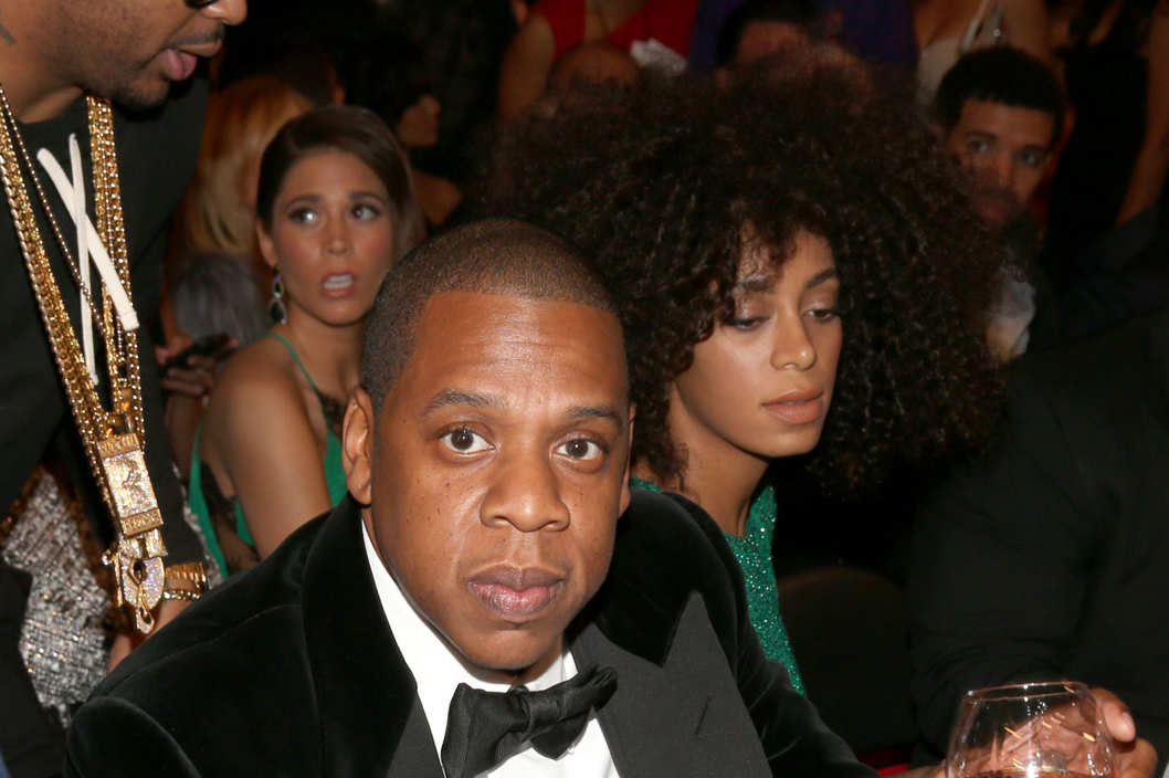 Rapper Jay-Z attends the 55th Annual GRAMMY Awards at STAPLES Center on February 10, 2013 in Los Angeles, California.