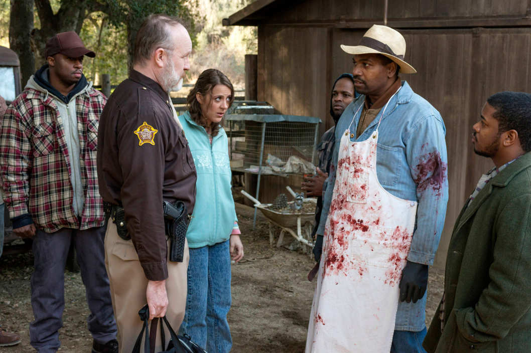 JUSTIFIED -- Get Drew -- Episode 10 (Airs Tuesday, March 12, 10:00 pm e/p) -- Pictured: (L-R) Jim Beaver as Shelby Parlow, Abby Miller as Ellen May, Mikelti Williamson as Ellstin Limehouse