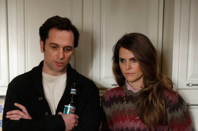THE AMERICANS -- Safe House -- Episode 9 (Airs Wednesday, April 3, 10:00 pm e/p) -- Pictured: (L-R) Matthew Rhys as Philip Jennings, Keri Russell as Elizabeth Jennings.