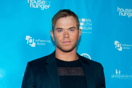 Kellan Lutz arrives at the mPowering ActionPre-GRAMMY Launch Event at The Conga Room at L.A. Live on February 8, 2013 in Los Angeles, California.