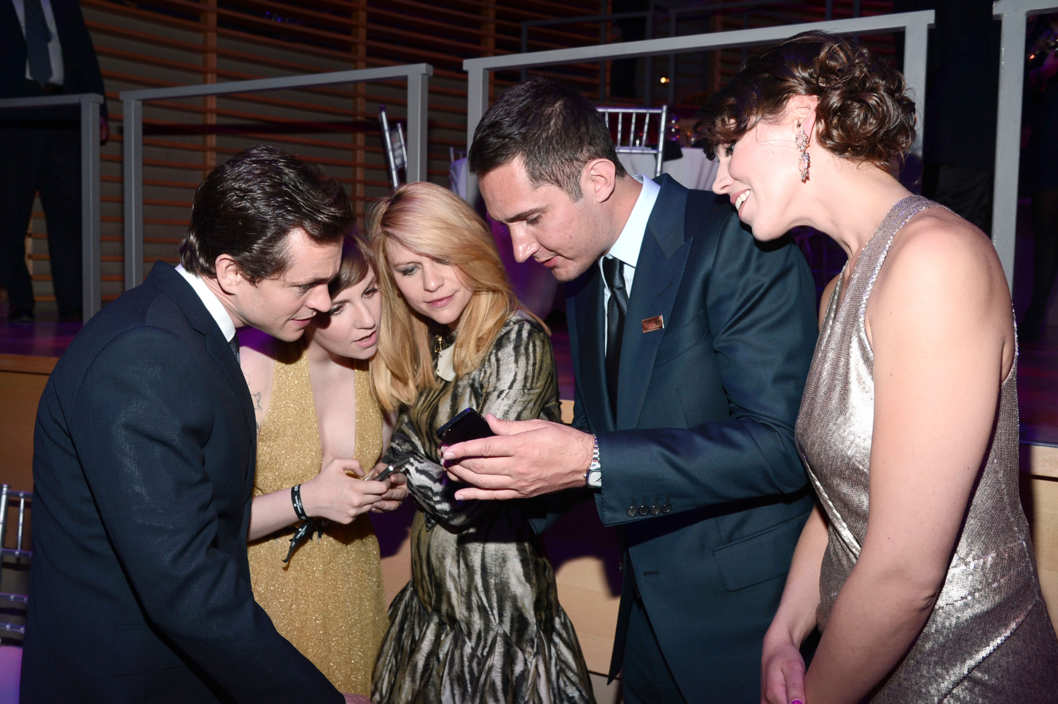 Hugh Dancy, Lena Dunham, Claire Danes, Kevin Systrom, Nicole Schuetz== TIME 100 GALA: TIME'S 100 MOST INFLUENTIAL PEOPLE IN THE WORLD== Jazz at Lincoln Center, NYC== April 23, 2013== ?Patrick McMullan== Photo - PATRICK MCMULLAN/PatrickMcMullan.com== ==