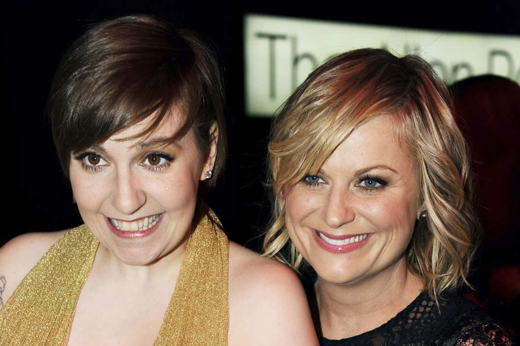 Lena Dunham, Amy Poehler==TIME 100 GALA: TIME'S 100 MOST INFLUENTIAL PEOPLE IN THE WORLD==Jazz at Lincoln Center, NYC==April 23, 2013==?Patrick McMullan==Photo - CLINT SPAULDING/PatrickMcMullan.com====