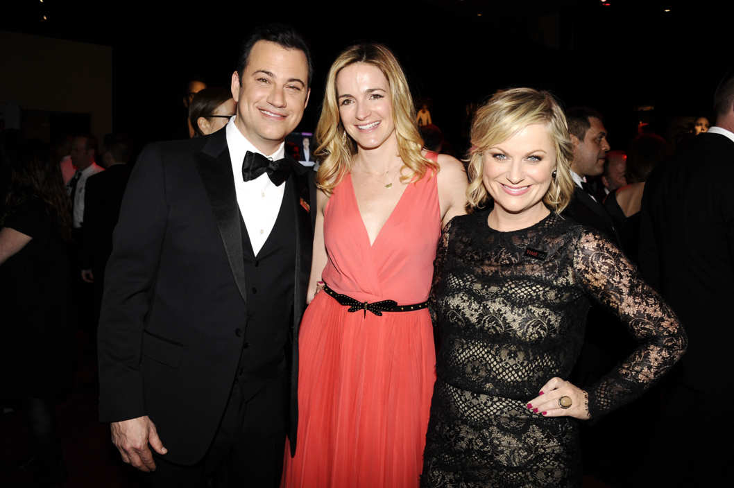 Jimmy Kimmel, Molly McNearney, Amy Poehler==TIME 100 GALA: TIME'S 100 MOST INFLUENTIAL PEOPLE IN THE WORLD==Jazz at Lincoln Center, NYC==April 23, 2013==?Patrick McMullan==Photo - CLINT SPAULDING/PatrickMcMullan.com====