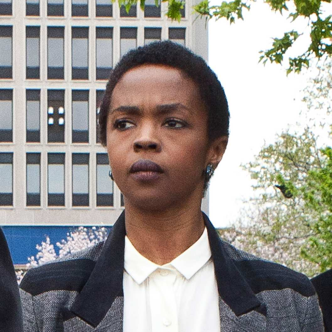 Signer Lauryn Hill is seen leaving court after the judge postpones her sentencing and gave her two weeks to pay back taxes April 22, 2013 in Newark, New Jersey.  Hill pleaded guilty to tax evasion charges in June 2012 for failure to pay federal taxes on USD 1.8 million earned from 2005-2007. She faces a maximum one-year jail sentence for each of the three accounts.