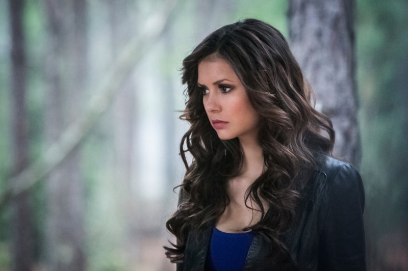 "The Vampire Diaries -- ""The Walking Dead"" -- Pictured: Nina Dobrev as Katherine -- Image Number: VD422b_0246r.jpg -- Photo: Tina Rowden/The CW -- © 2013 The CW Network, LLC. All rights reserved."