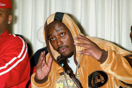 Rapper Ol' Dirty Bastard (aka. ODB & Dirt McGirt) attends a news conference to announce his signing with Roc-A-Fella Records at the Rihga Royal Hotel May 1, 2003 in New York City. The controversial rapper was released from prison earlier today after being incarcerated for over two years.