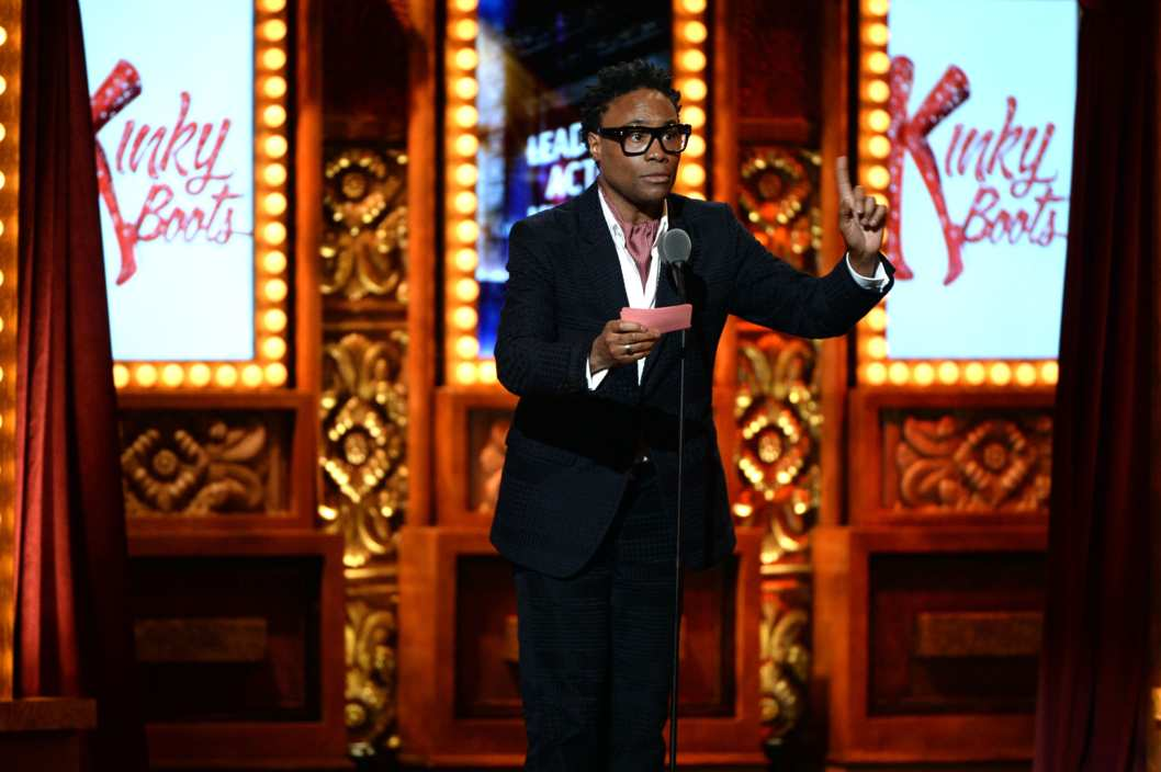"NEW YORK, NY - JUNE 09: Billy Porter accepts the Tony Award for Best Performance by an Actor in a Leading Role in a Musical for his role in ""Kinky Boots"" at The 67th Annual Tony Awards at Radio City Music Hall on June 9, 2013 in New York City.  (Photo by Andrew H. Walker/Getty Images for Tony Awards Productions)"