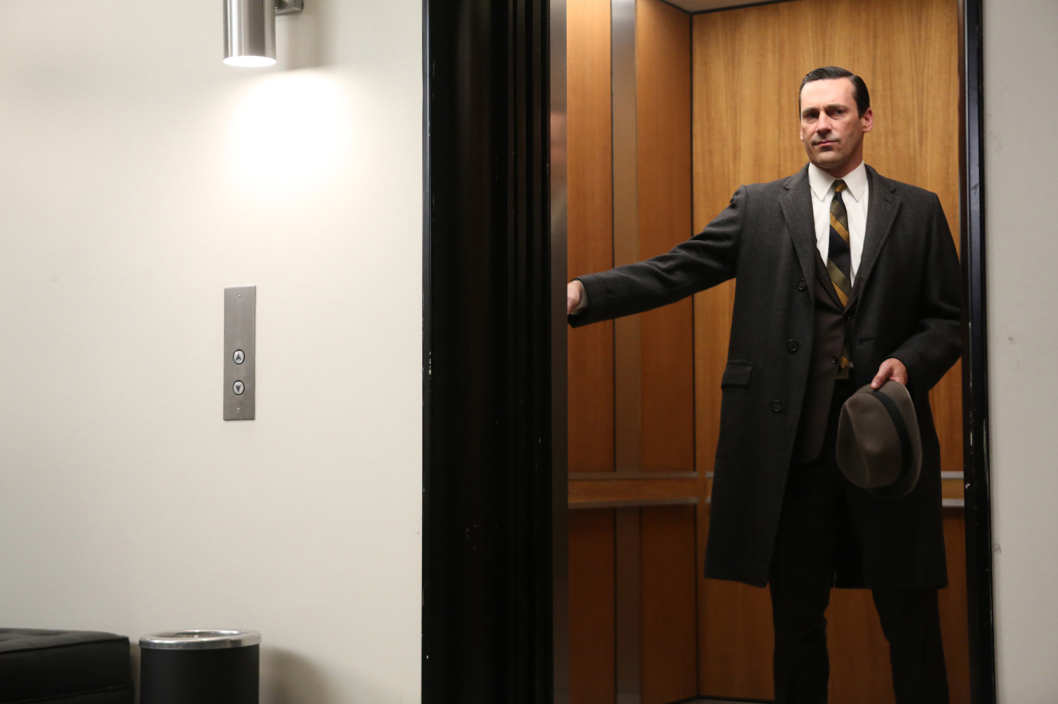 Don Draper (Jon Hamm) - Mad Men _ Season 6, Episode 13 _ 'In Care of' - Photo Credit: Jamie Trueblood/AMC