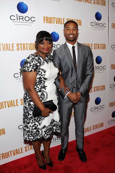 (L-R) Actors Octavia Spencer and Michael B. Jordan arrive at the New York premiere of FRUITVALE STATION, hosted by The Weinstein Company, BET Films and CIROC Vodka on July 8, 2013 in New York City.