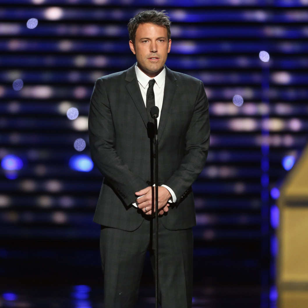 Actor Ben Affleck onstage to present Jimmy V award at The 2013 ESPY Awards at Nokia Theatre L.A. Live on July 17, 2013 in Los Angeles, California.