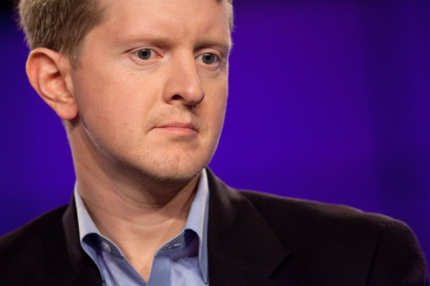 "YORKTOWN HEIGHTS, NY - JANUARY 13:  Contestant Ken Jennings attends a press conference to discuss the upcoming Man V. Machine ""Jeopardy!"" competition at the IBM T.J. Watson Research Center on January 13, 2011 in Yorktown Heights, New York.  (Photo by Ben Hider/Getty Images) *** Local Caption *** Ken Jennings"