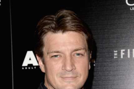 "Actor Nathan Fillion attends the premiere of The Film Arcade's ""A.C.O.D."" at the Landmark Theater on September 26, 2013 in Los Angeles, California."