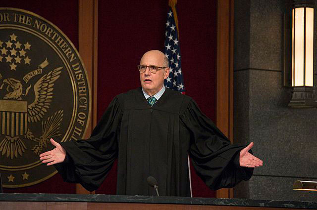 """The Bit Bucket""--Alicia argues in front of Judge Kluger (Jeffrey Tambor) when the firm sues the NSA on behalf of a client, on THE GOOD WIFE, Sunday, Oct. 6 (9:00-10:00 PM, ET/PT) on the CBS Television Network. Photo: David Giesbrecht/CBS ????2013 CBS Broadcasting Inc. All Rights Reserved"