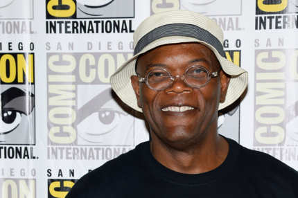 "SAN DIEGO, CA - JULY 20:  Actor Samuel L. Jackson attends Marvel's ""Captain America: The Winter Soldier"" press line during Comic-Con International 2013 at the Hilton San Diego Bayfront Hotel on July 20, 2013 in San Diego, California.  (Photo by Ethan Miller/Getty Images)"