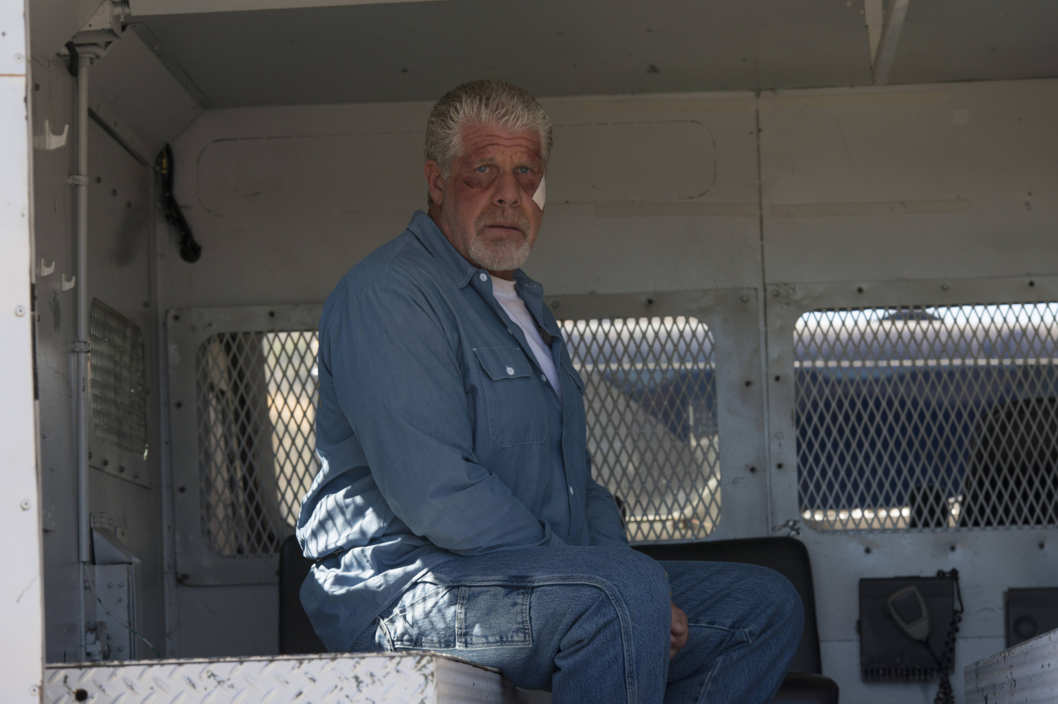 SONS OF ANARCHY Aon Rud Persanta -- Episode 611 -- Airs Tuesday, November 19, 10:00 pm e/p) -- Pictured: Ron Perlman as Clay Morrow -- CR: Prashant Gupta/FX