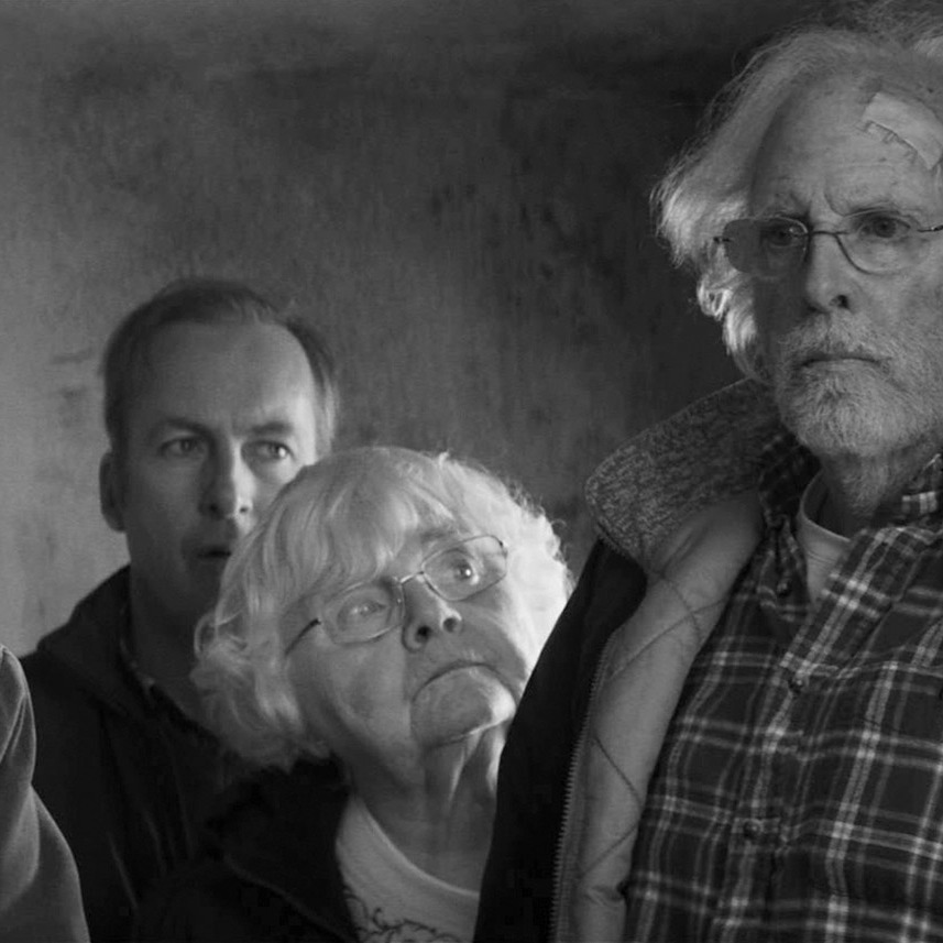 Will Forte is David Grant, Bob Odenkirk is Ross Grant, June Squibb is Kate Grant and Bruce Dern is Woody Grant in NEBRASKA, from Paramount Vantage in association with FilmNation Entertainment, Blue Lake Media Fund and Echo Lake Entertainment.NEB-FF-031