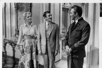 Eleanor Parker and Richard Haydn are greeted by Christopher Plummer in a scene from the film 'The Sound Of Music', 1965. (Photo by 20th Century-Fox/Getty Images)