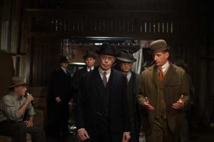 HBO's Boardwalk Empire season 4  2013. Characters: Steve Buscemi-  Nucky Thompson, Shea Whigham-  Eli Thompson, Jack Huston-  Richard Harrow, Paul Sparks-  Mickey Doyle, Steve Beauchamp-  Sid the Bodyguard.