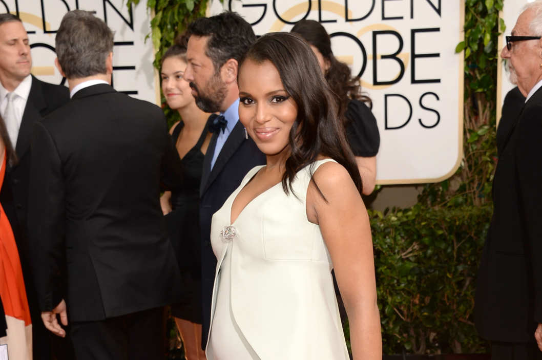 BEVERLY HILLS, CA - JANUARY 12:  Actress Kerry Washington attends the 71st Annual Golden Globe Awards held at The Beverly Hilton Hotel on January 12, 2014 in Beverly Hills, California.  (Photo by Jason Merritt/Getty Images)