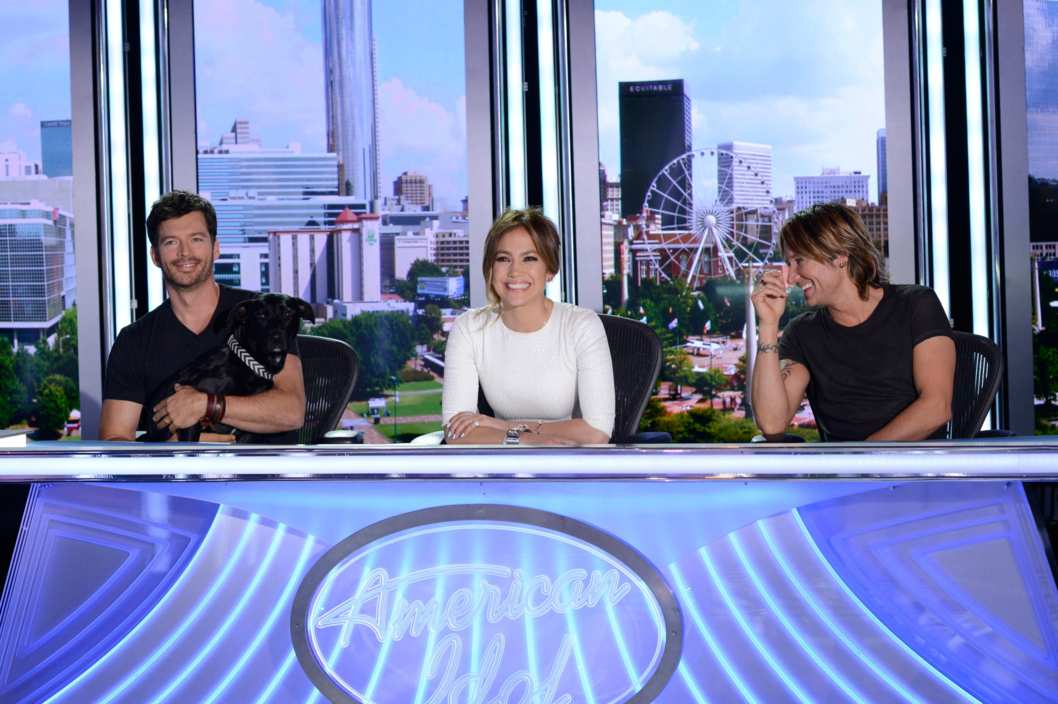 "AMERICAN IDOL XIII: Atlanta Auditions: L-R: Judges Harry Connick Jr., ""Bubby,"" Jennifer Lopez and Keith Urban on AMERICAN IDOL XIII airing Thursday, Jan. 23 (8:00-9:00 PM ET/PT) on FOX."