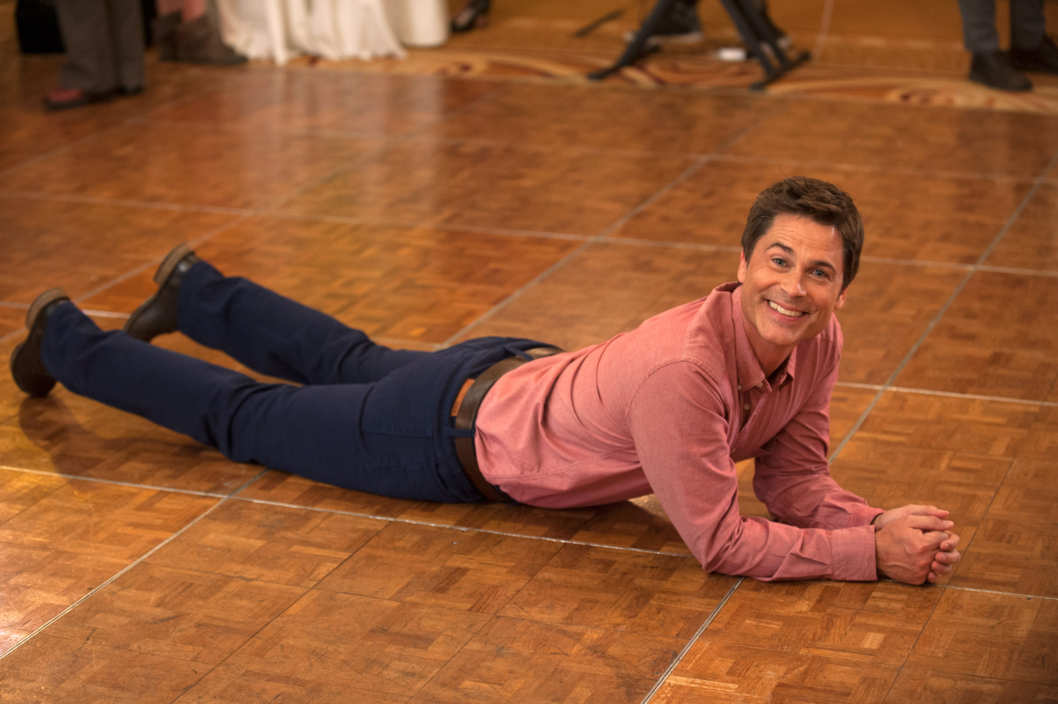 "PARKS AND RECREATION -- ""Ann & Chris"" Episode 613 -- Pictured: Rob Lowe as Chris Traeger -- (Photo by: Colleen Hayes/NBC/NBCU Photo Bank)"