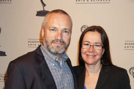 NORTH HOLLYWOOD, CA - SEPTEMBER 15:  Writers Andre Jacquemetton (L) and Maria Jacquemetton attend The Academy of Television Arts & Sciences' Writers Peer Group Reception Celebrating the 63rd Primetime Emmy Awards at the Leonard H. Goldenson Theatre on September 15, 2011 in North Hollywood, California.  (Photo by Imeh Akpanudosen/Getty Images)