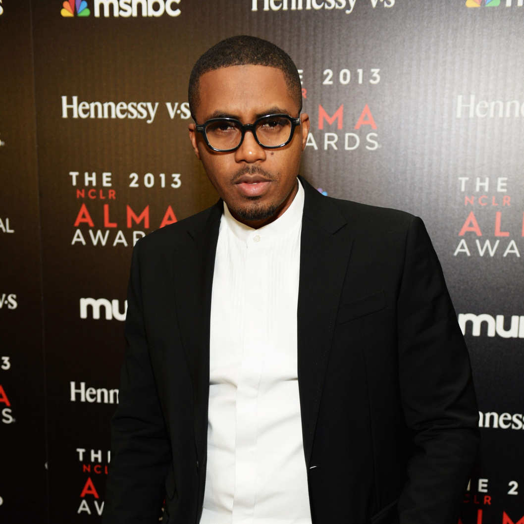 Rapper Nas attends the Producer's post party during the 2013 NCLR ALMA Awards on September 27, 2013 in Pasadena, California.