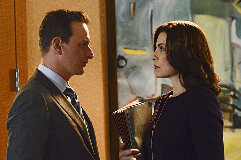 """A Precious Commodity""--Will (Josh Charles, left) needs Alicia???€?™s (Julianna Margulies, right) help when an internal conflict at the firm necessitates a vote by the partners, on THE GOOD WIFE, Sunday, Oct 13 (9:00-10:00 PM, ET/PT) on the CBS Television Network. Photo: Myles Aronowitz/CBS ?'??2013 CBS Broadcasting Inc. All Rights Reserved"
