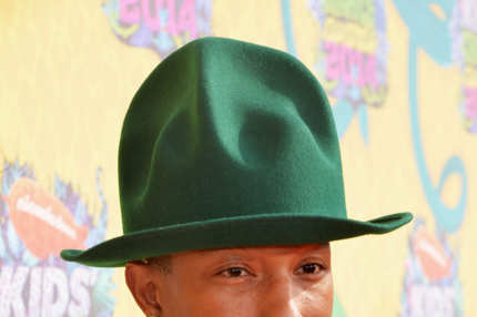 Recording artist Pharrell Williams attends Nickelodeon's 27th Annual Kids' Choice Awards held at USC Galen Center on March 29, 2014 in Los Angeles, California.