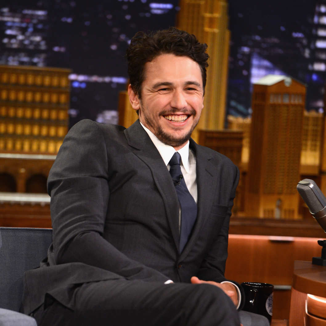 "NEW YORK, NY - MARCH 14:  James Franco visits ""The Tonight Show Starring Jimmy Fallon"" at Rockefeller Center on March 14, 2014 in New York City.  (Photo by Theo Wargo/NBC/Getty Images for ""The Tonight Show Starring Jimmy Fallon"")"