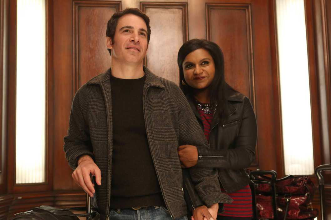 "THE MINDY PROJECT: Mindy (Mindy Kaling, R) and Danny (Chris Messina, L) return from Los Angeles in Part One of the one-hour ""French Me, You Idiot/Indian BBW"" Spring Premiere episode of THE MINDY PROJECT airing at a special time Tuesday, April 1 (9:00-10:00 PM ET/PT) on FOX. ?2014 Fox. ?2014 Fox Broadcasting Co. Cr: Beth Dubber/FOX"