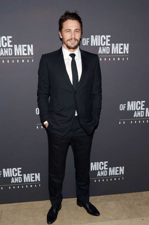 "Actor James Franco attends the after party for the Broadway opening night for ""Of Mice and Men"" at The Plaza Hotel on April 16, 2014 in New York City."