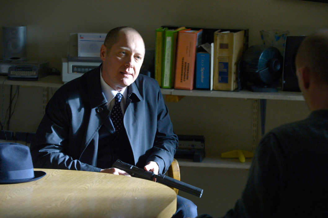 "THE BLACKLIST -- ""Berlin Conclusion"" Episode 121 -- Pictured: James Spader as Raymond Reddington -- (Photo by: Virginia Sherwood/NBC)"