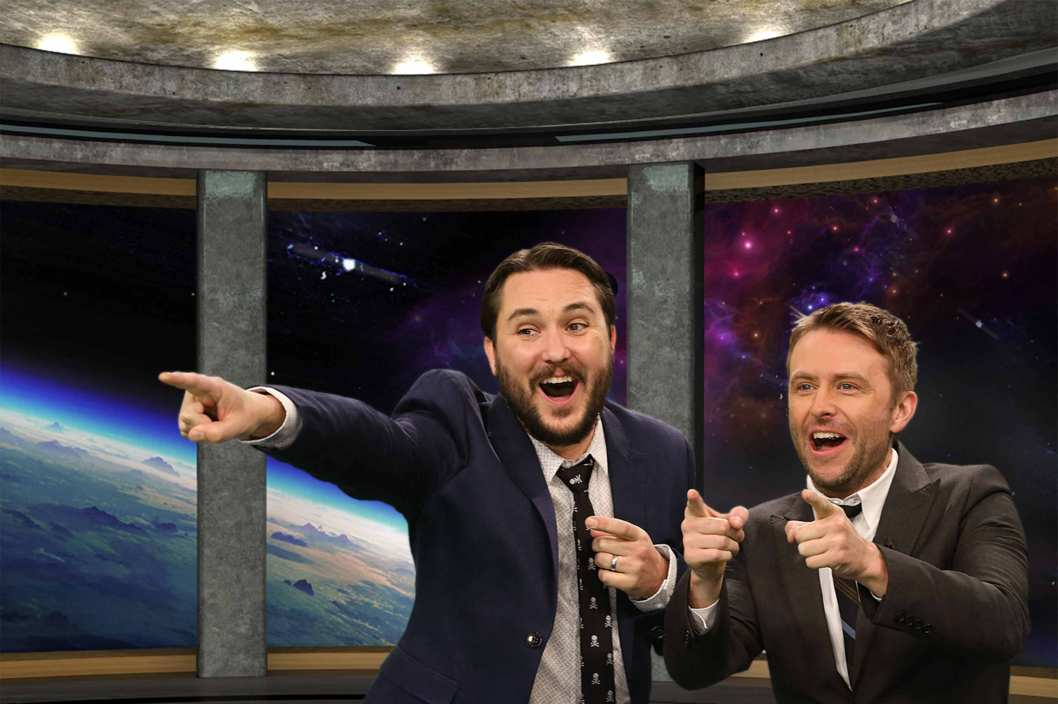 THE WIL WHEATON PROJECT -- Pictured: (l-r) Wil Wheaton, Chris Hardwick -- (Photo by: Danny Feld/Syfy)