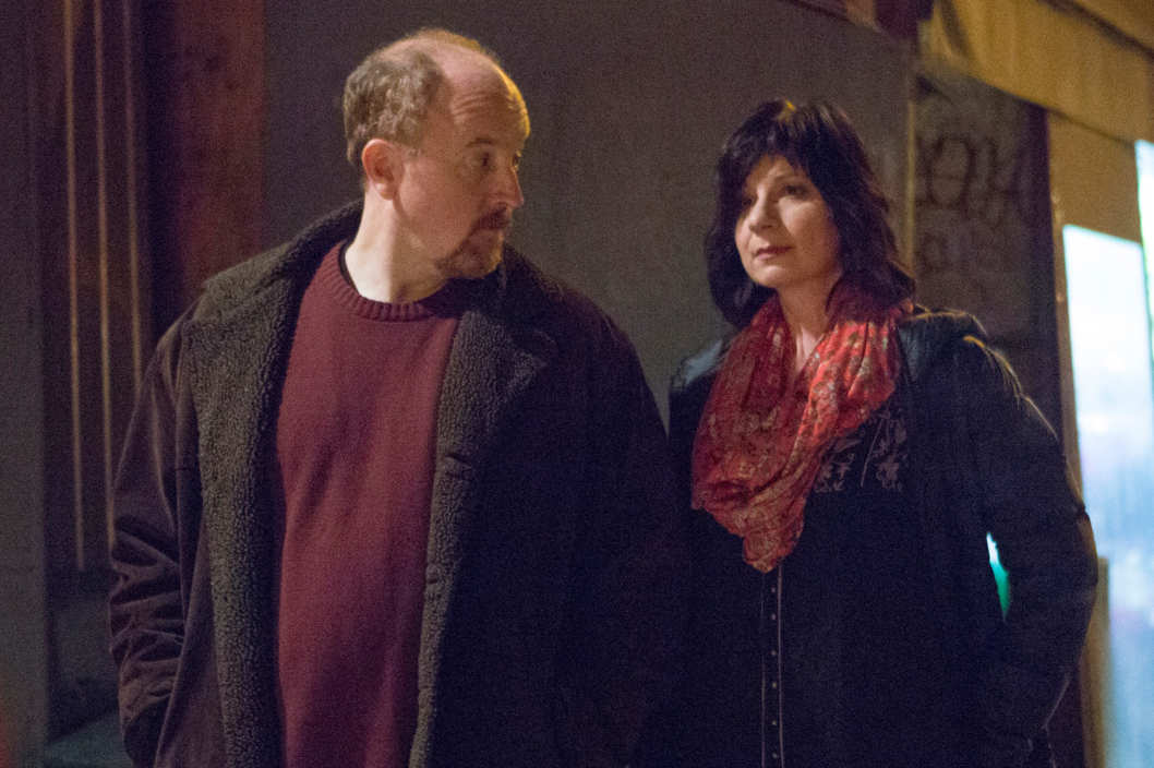 "LOUIE: Episode 8: ""Elevator Part 5"" (Airs Monday, May 26, 10:30 pm e/p). Pictured: (L-R) Louis C.K. as Louie, Eszter Balint as Amia. CR: KC Bailey/FX"