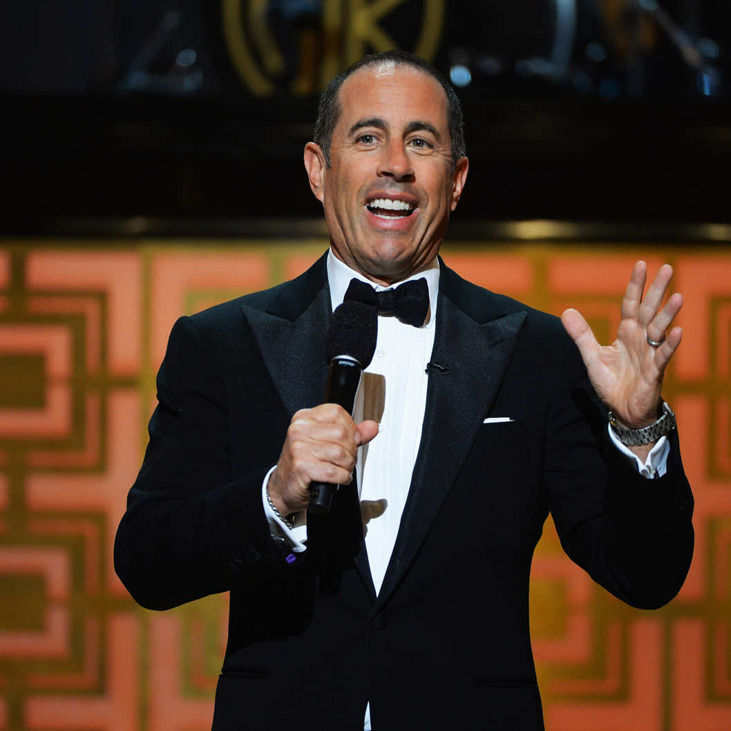 "Comedian Jerry Seinfeld speaks onstage at Spike TV's ""Don Rickles: One Night Only"" on May 6, 2014 in New York City."