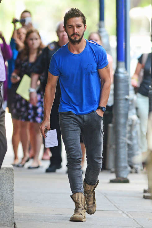 Shia LaBeouf leaves police precinct after being arrested in New York City.<P>Pictured: Shia LaBeouf<B>Ref: SPL790460  270614  </B><BR/>Picture by: Steffman-Turgeon / Splash News<BR/></P><P><B>Splash News and Pictures</B><BR/>Los Angeles:310-821-2666<BR/>New York:212-619-2666<BR/>London:870-934-2666<BR/>photodesk@splashnews.com<BR/></P>