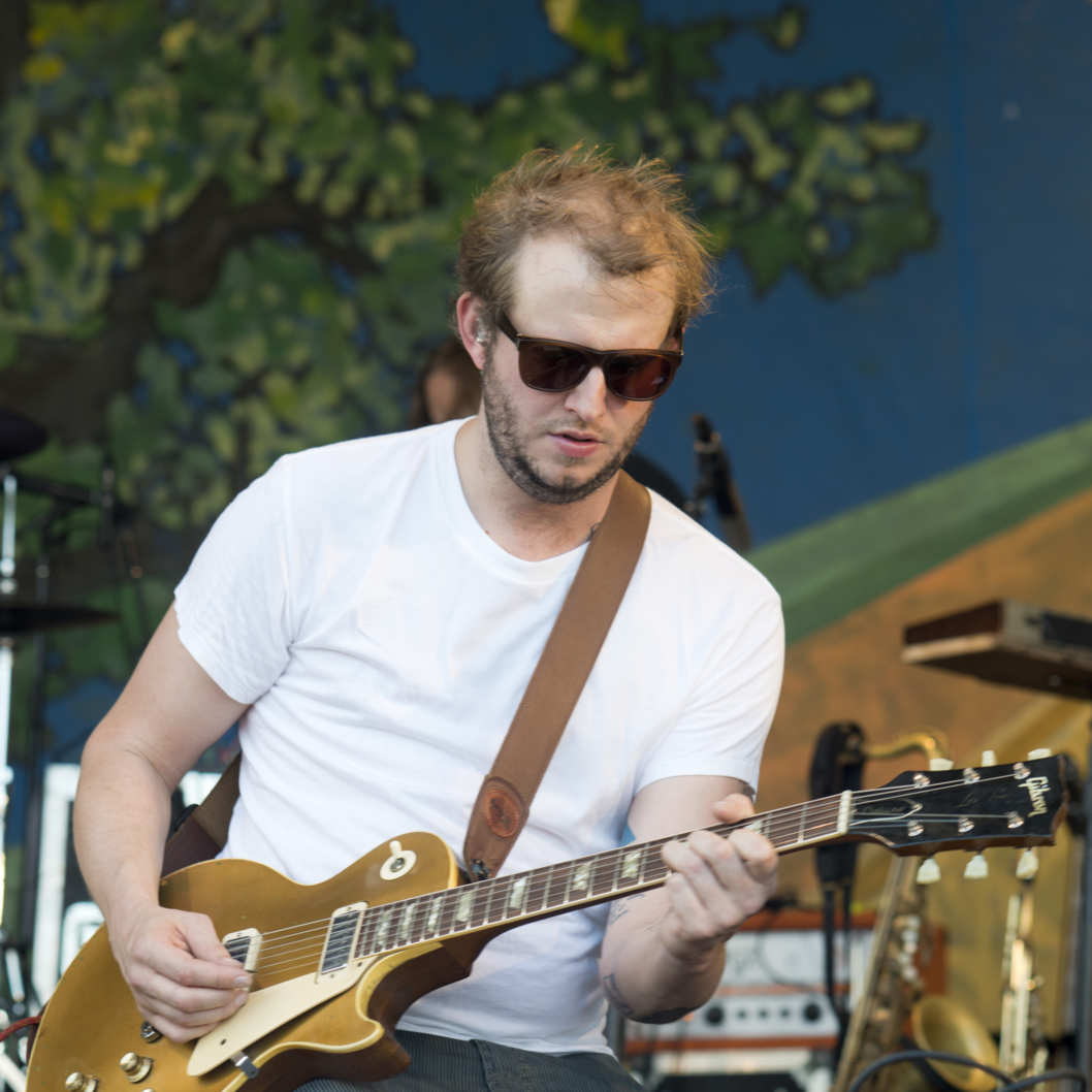 Bon Iver performing at the New Orleans Jazz and Heritage Festival in New Orleans, Louisiana on April 27, 2012