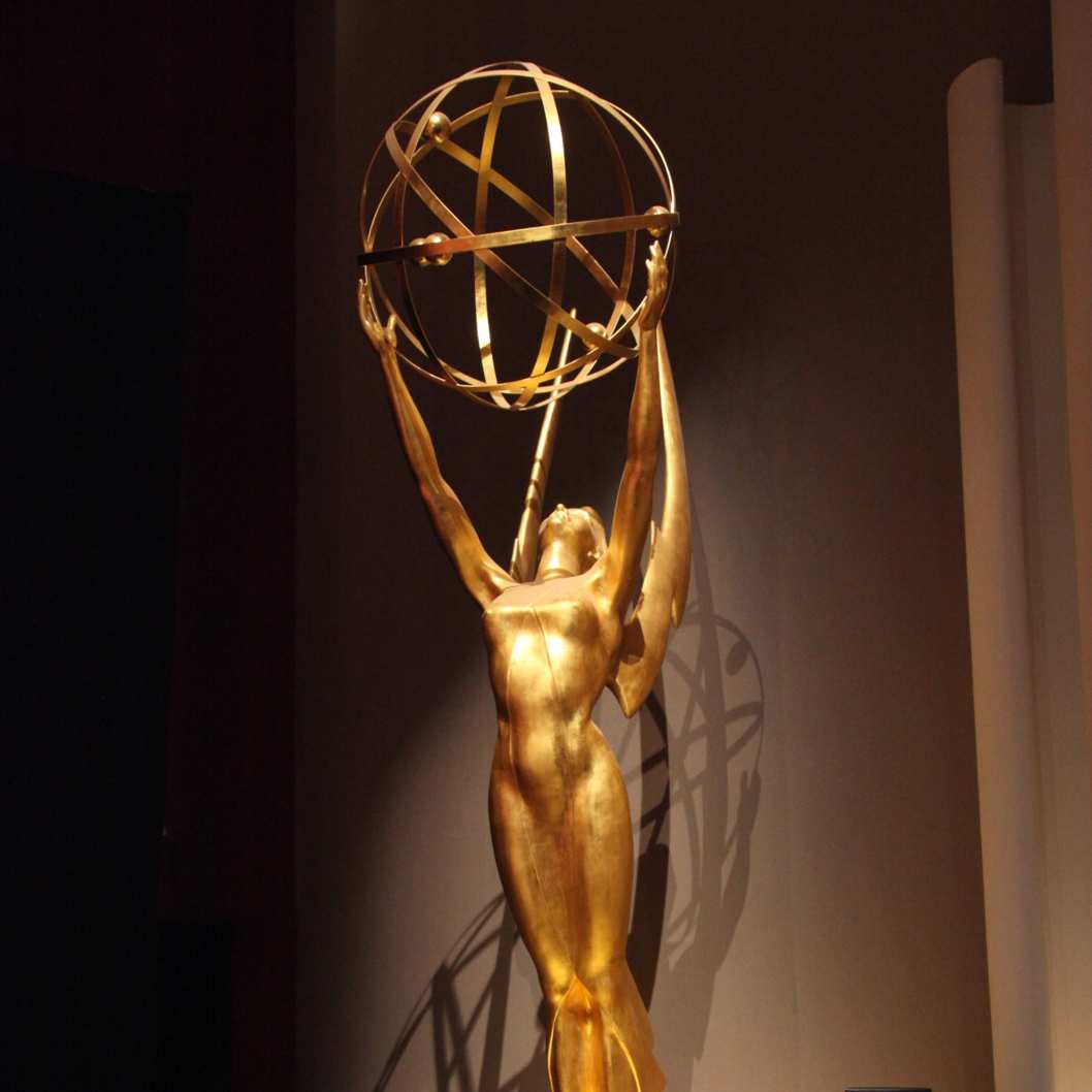 NORTH HOLLYWOOD, CA - JULY 18:  The Emmy Statuette is displayed at the 65th Primetime Emmy Awards nominations at the Television Academy's Leonard H. Goldenson Theatre on July 18, 2013 in North Hollywood, California.  (Photo by Tommaso Boddi/WireImage)