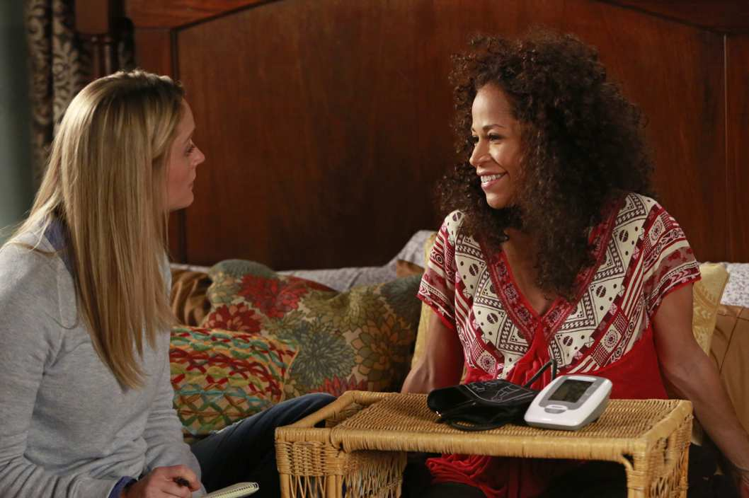 "THE FOSTERS - ""Mother"" - The Fosters face an unforeseen tragedy in a new episode of ""The Fosters,"" airing Monday, July 21 at 9:00 p.m. ET/PT on ABC Family. (ABC FAMILY/Ron Tom)TERI POLO, SHERRI SAUM"