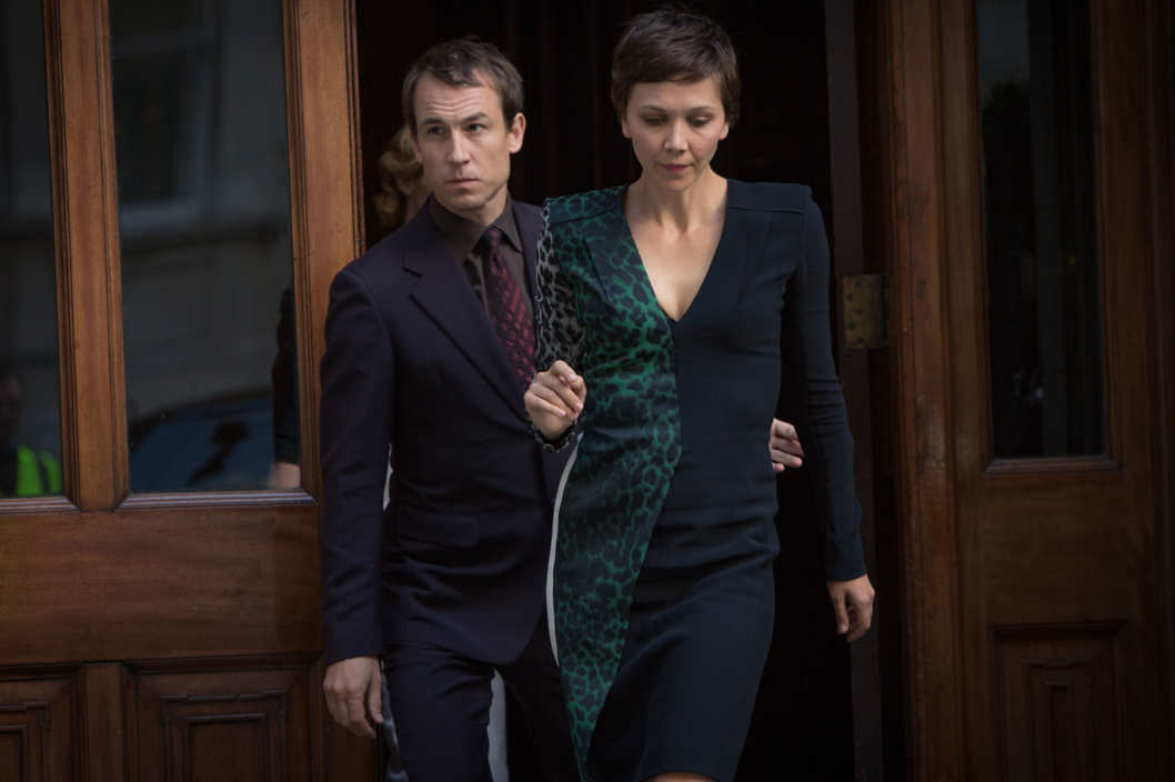 "L to R, Tobias Menzies and Maggie Gyllenhaal - in the SundanceTV original series ""The Honorable Woman"" - Photo Credit: Robert Viglasky"