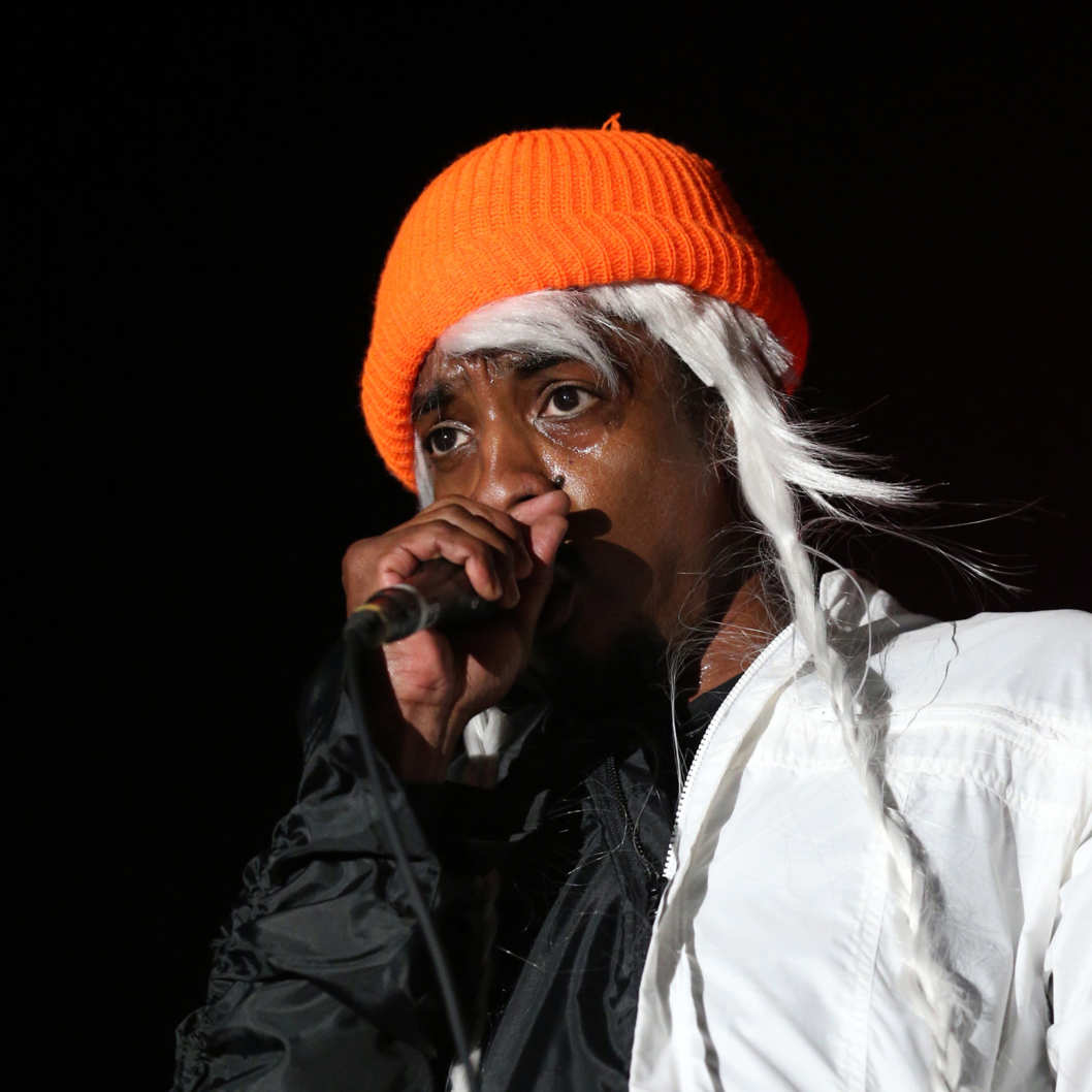 INDIO, CA - APRIL 18:  Andre 3000 of Outkast performs onstage during day 1 of the 2014 Coachella Valley Music & Arts Festival at the Empire Polo Club on April 18, 2014 in Indio, California  (Photo by Karl Walter/Getty Images for Coachella)