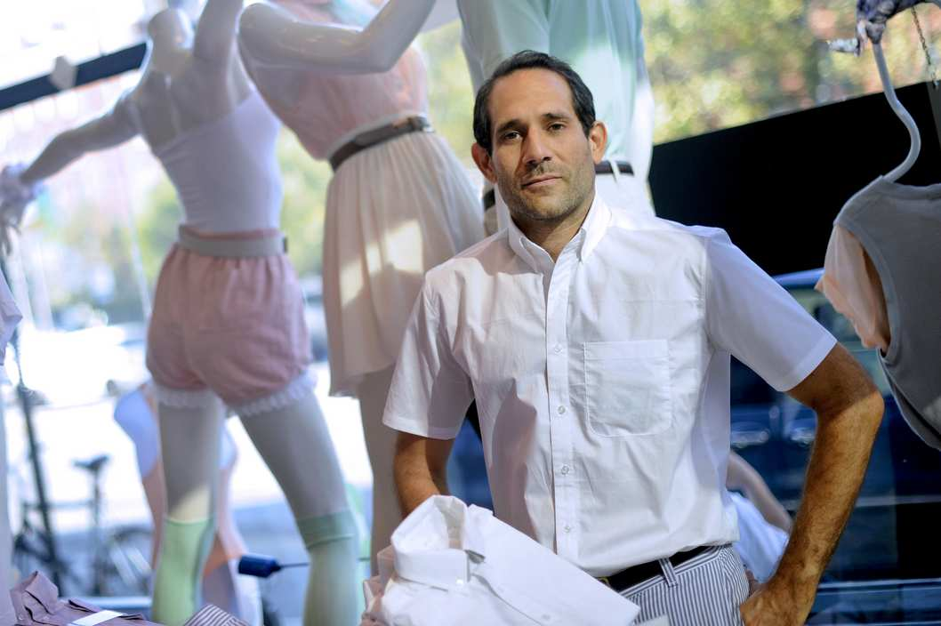 Dov Charney, chairman and chief executive officer of American Apparel Inc., stands for a portrait in a company retail store in New York, U.S., on Thursday, July 29, 2010.